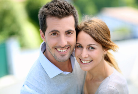 Happy couple after relationship counselling