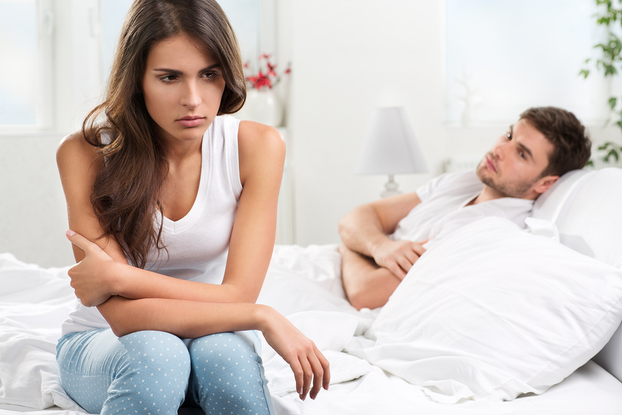 Male and female experiencing relationship difficulties